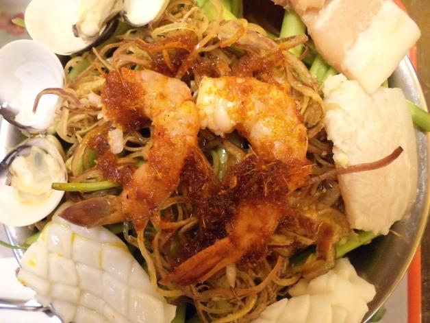 Raw Seafood On Top of Broth