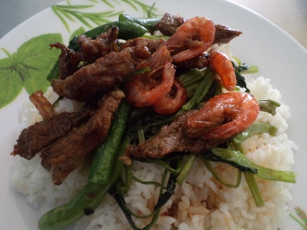 Shrimp and Pork Stirfry