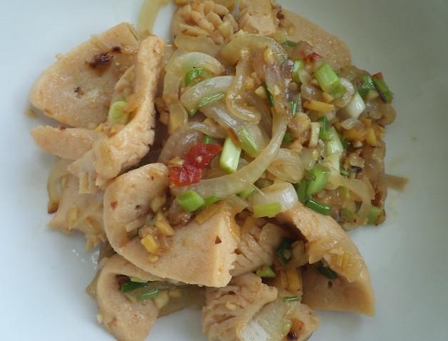 Vegan Pork Kidney Stir Fry